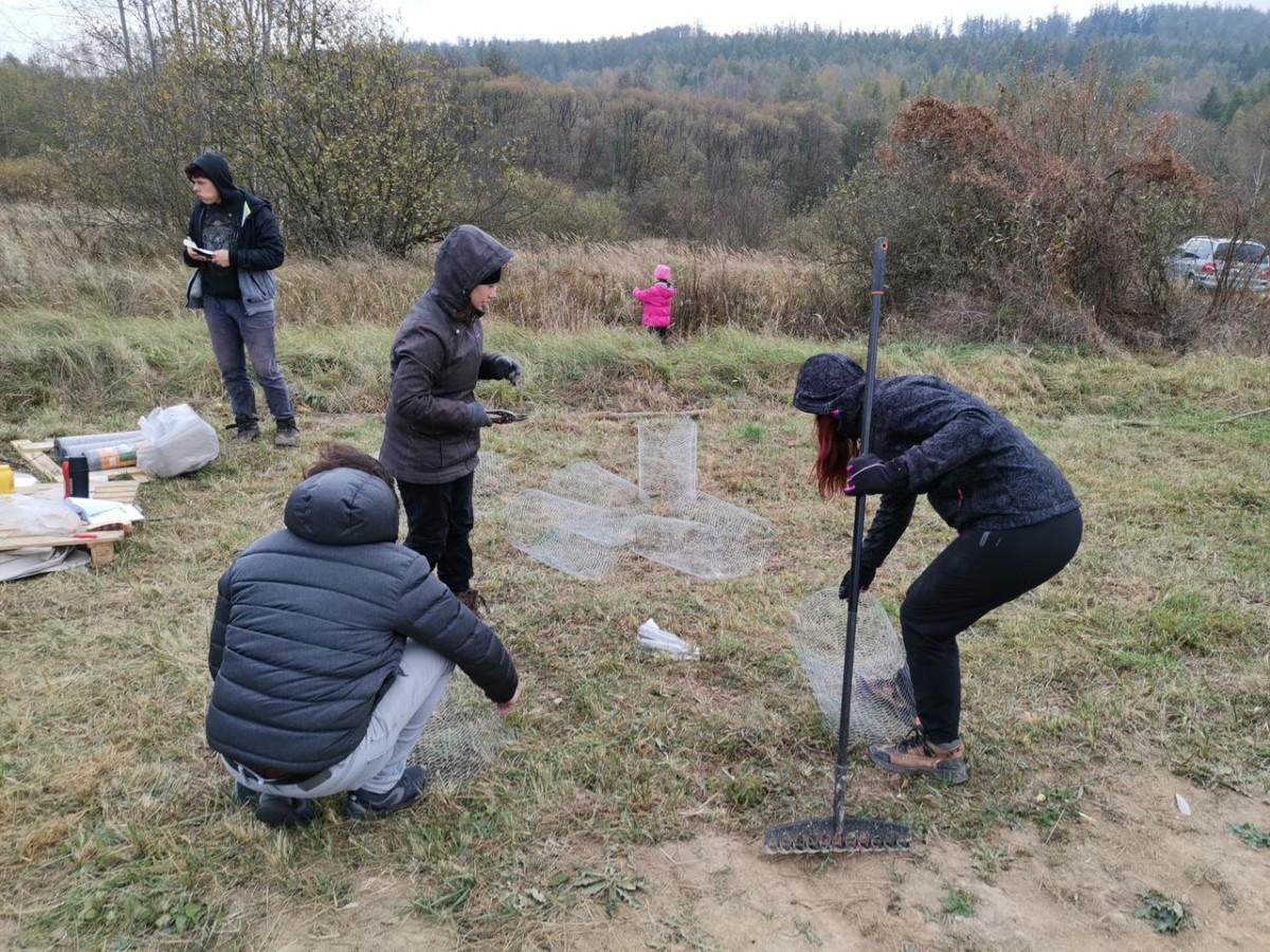 Příprava Pletiv Pro Ochranu Stromků Před Okusem
